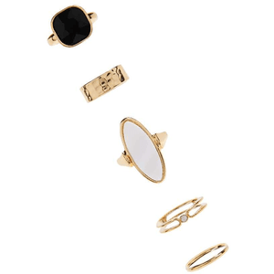 Band & Stone Ring Set for $6.90 available on URSTYLE.com