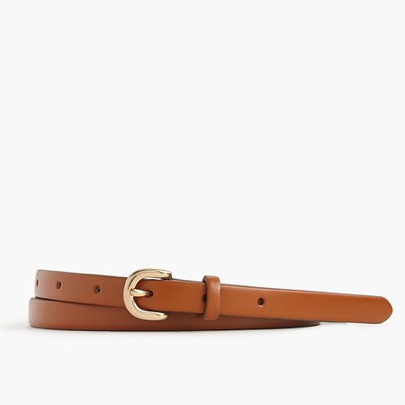 J.Crew: Skinny Italian Leather Belt For Women