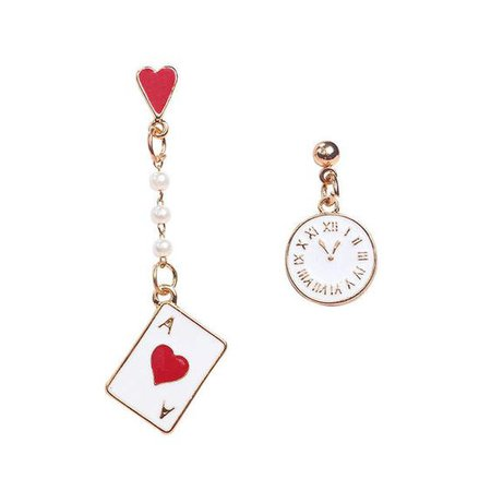 Cute Women's Earring Alice Wonderland Enamel