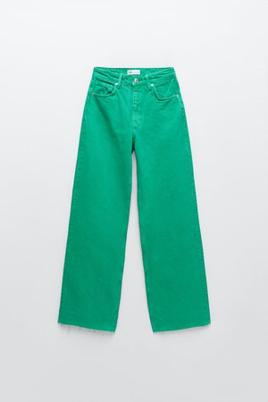 SOLID COLOR FULL LENGTH WIDE LEG JEANS   ZARA United States