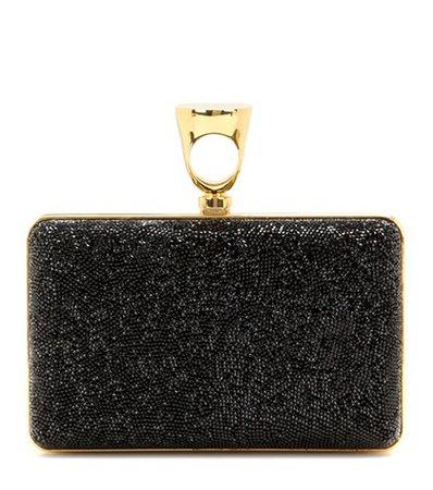 Micro Rock embellished box clutch