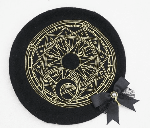6 Colors Card Captor Sakura Magic Circle Beret Cap YV184 | Youvimi
