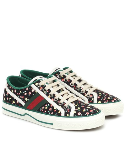 Gucci - Sneakers Gucci Tennis 1977 in canvas Liberty   Mytheresa