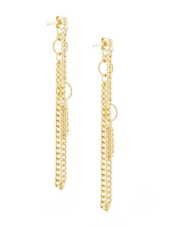Petite Grand Circle And Chain Stud Earrings | Farfetch.com