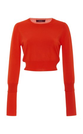 Gwin Cropped Stretch-Knit Sweater by Sies Marjan   Moda Operandi