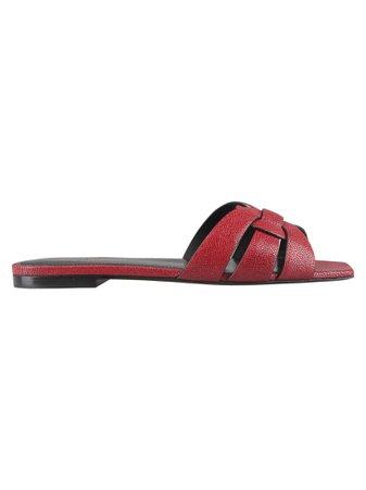 Saint Laurent Paris Tribute Flat Sandals