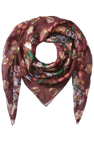 Printed Silk Scarf Gr. One Size