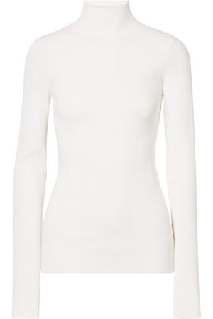 Helmut Lang | Ribbed-knit turtleneck sweater | NET-A-PORTER.COM