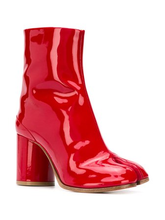 Maison Margiela Patent Leather Tabi Boots - Farfetch