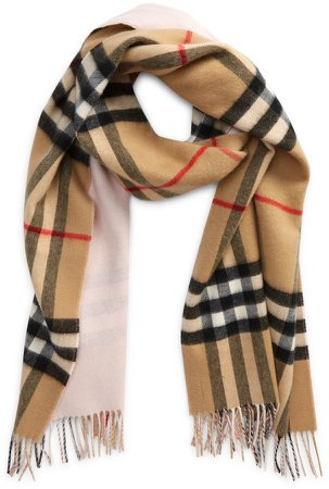 Check Reversible Cashmere Scarf