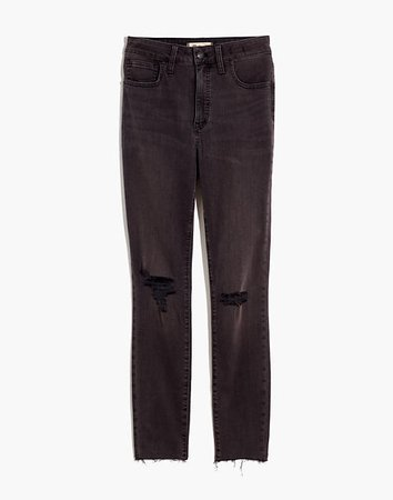 Women's Curvy High-Rise Skinny Jeans in Black Sea | Madewell