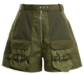 Marques'almeida - Patch Pocket High Rise Shorts - Womens - Khaki
