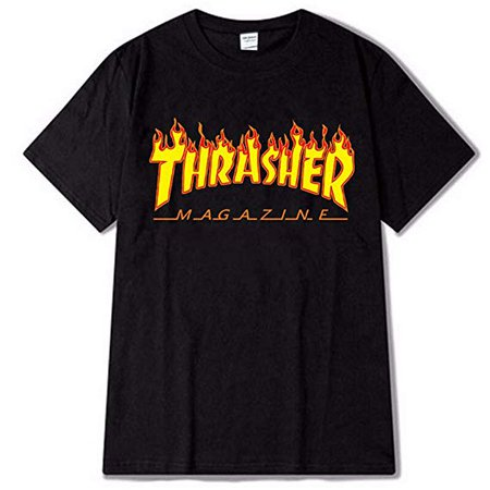 Amazon.com: Thrasher Flame Fashion T-Shirts Short Sleeve Men's MAG Logo Top Shirt: Gateway