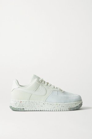 Air Force 1 Crater Faux Leather And Mesh Sneakers - White