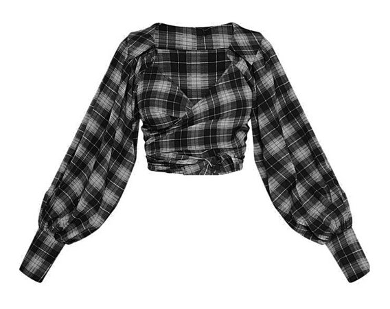 black and grey flannel plt