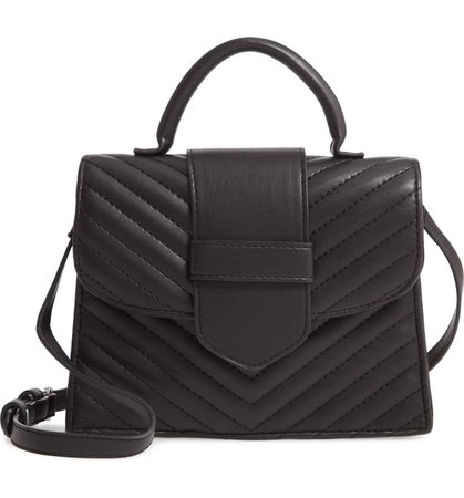 Steve Madden Mini Chevron Quilted Faux Leather Top Handle Satchel   Nordstrom