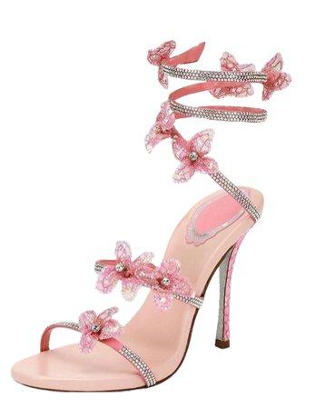 2000s pink flower heels