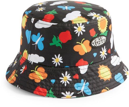 Petals And Peacocks Flourish Bucket Hat