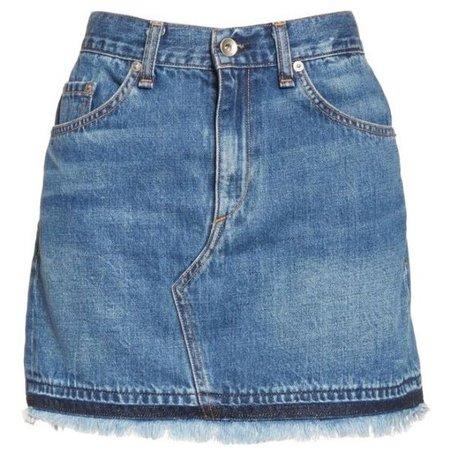 Women's Rag & Bone/jean Dive Denim Skirt