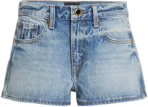 Khaite Charlotte Denim Mini Shorts
