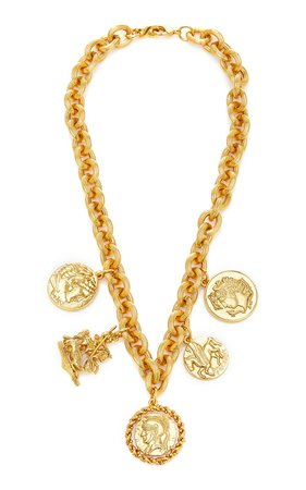 Romulus Gold-Plated Brass Pendant Necklace by Jennifer Behr | Moda Operandi