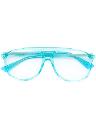Gucci Eyewear Oversized Acetate Glasses
