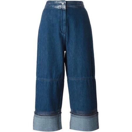 Mm6 Maison Margiela Cropped Wide Leg Jeans