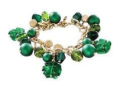 Murano Glass St. Patrick's Day Bracelet | Handmade Bracelet | Uno Alla Volta