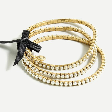 J.Crew: Stackable Pearl Stretch Bracelet Set For Women