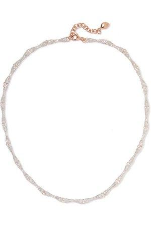 Monica Vinader | Nura rose gold vermeil diamond necklace | NET-A-PORTER.COM