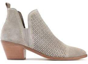 Belle Laser-cut Suede Ankle Boots