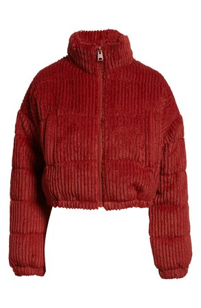 BDG Urban Outfitters Fluffy Corduroy Crop Puffer Jacket | Nordstrom