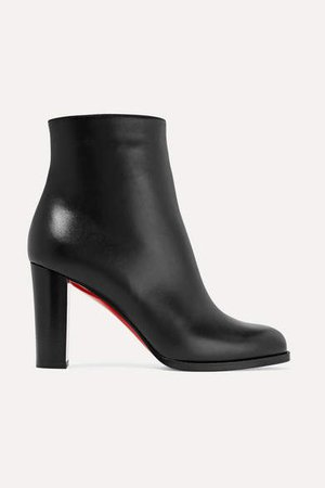 Adox 85 Leather Ankle Boots - Black