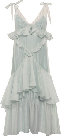 Anna October Lily Ruffle-Trimmed Organza Dress