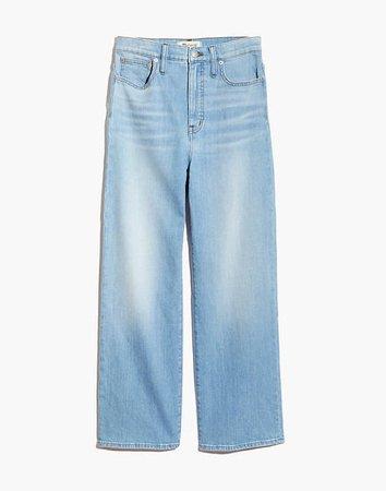 Slim Wide-Leg Jeans in Eastwick Wash blue