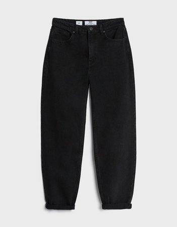 Mom jeans with turn-up hems - Woman   Bershka
