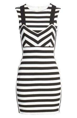 English Factory Stripe Body-Con mini Dress | Nordstrom