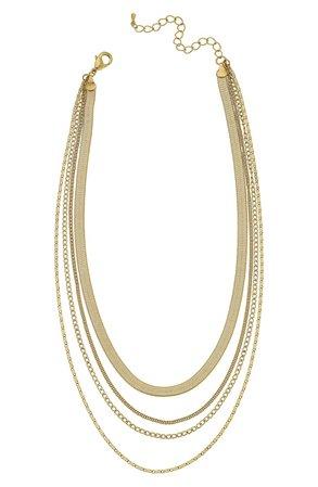 Canvas Jewelry Allura Multi Chain Layered Necklace   Nordstrom