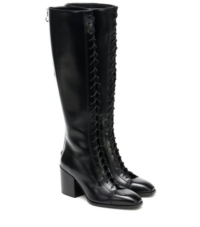 Aeydē - Britta leather knee-high boots | Mytheresa