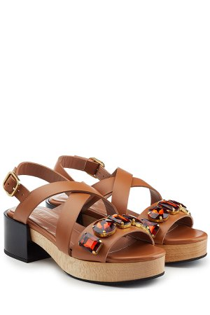Embellished Leather Sandals Gr. IT 37
