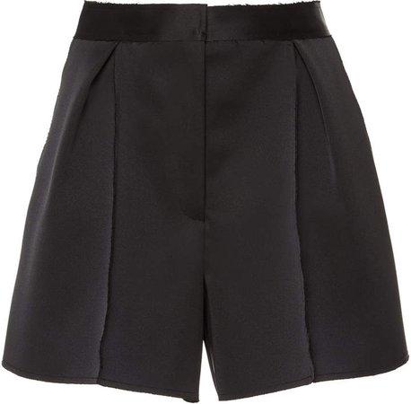 Carolina Herrera High-Waisted Satin Shorts Size: 0