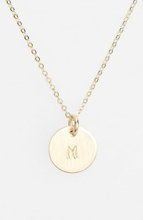 Nashelle 14k-Gold Fill Initial Mini Circle Necklace | Nordstrom
