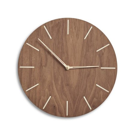 Mid century style wood wall clock modern silent clock   Etsy