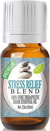 Amazon.com: Stress Relief Blend 100% Pure, Best Therapeutic Grade Essential Oil - 10ml - Bergamot, Patchouli, Blood Orange, Ylang Ylang, Grapefruit: Home & Kitchen