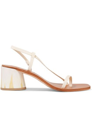 LOQ   Isla leather slingback sandals   NET-A-PORTER.COM