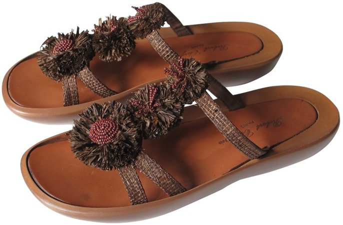 Brown Cloth Sandals