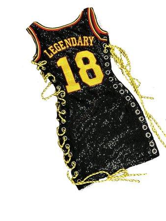 Sequin 'Legendary' Jersey Dress