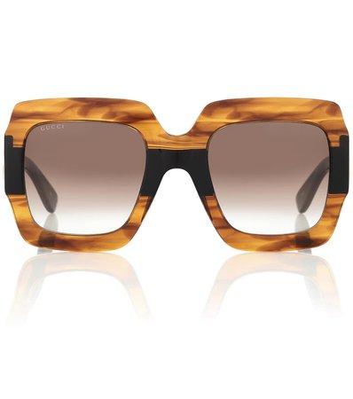 Square Acetate Sunglasses | Gucci - Mytheresa