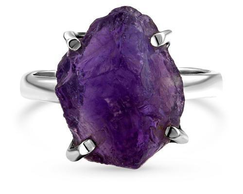 Raw Crystal Ring - Amethyst – Moon Magic