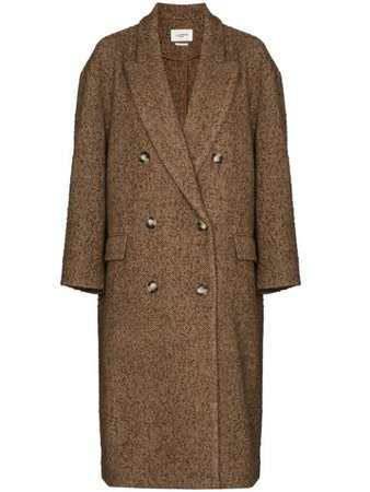 Isabel Marant Étoile Ojima double-breasted Long Coat - Farfetch